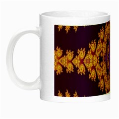 Something Different Fractal In Orange And Blue Night Luminous Mugs by Simbadda
