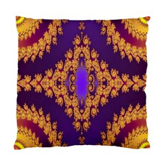Something Different Fractal In Orange And Blue Standard Cushion Case (one Side) by Simbadda