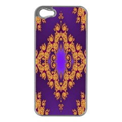 Something Different Fractal In Orange And Blue Apple Iphone 5 Case (silver)