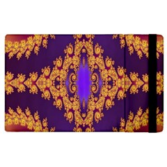 Something Different Fractal In Orange And Blue Apple Ipad 2 Flip Case