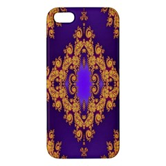 Something Different Fractal In Orange And Blue Apple Iphone 5 Premium Hardshell Case