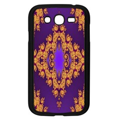 Something Different Fractal In Orange And Blue Samsung Galaxy Grand Duos I9082 Case (black)