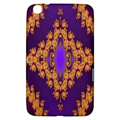 Something Different Fractal In Orange And Blue Samsung Galaxy Tab 3 (8 ) T3100 Hardshell Case  by Simbadda