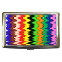 Colorful Liquid Zigzag Stripes Background Wallpaper Cigarette Money Cases