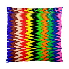 Colorful Liquid Zigzag Stripes Background Wallpaper Standard Cushion Case (one Side) by Simbadda