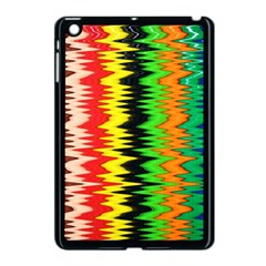 Colorful Liquid Zigzag Stripes Background Wallpaper Apple Ipad Mini Case (black) by Simbadda