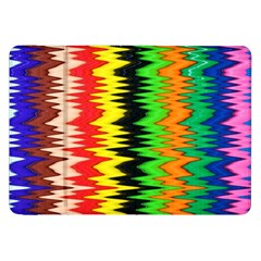 Colorful Liquid Zigzag Stripes Background Wallpaper Samsung Galaxy Tab 8 9  P7300 Flip Case by Simbadda