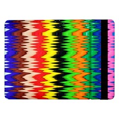 Colorful Liquid Zigzag Stripes Background Wallpaper Samsung Galaxy Tab Pro 12 2  Flip Case by Simbadda