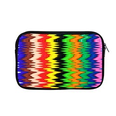 Colorful Liquid Zigzag Stripes Background Wallpaper Apple Macbook Pro 13  Zipper Case by Simbadda