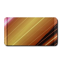 Diagonal Color Fractal Stripes In 3d Glass Frame Medium Bar Mats by Simbadda