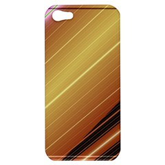 Diagonal Color Fractal Stripes In 3d Glass Frame Apple Iphone 5 Hardshell Case by Simbadda