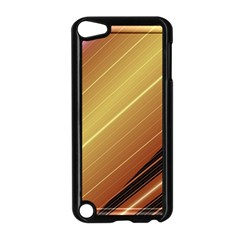 Diagonal Color Fractal Stripes In 3d Glass Frame Apple Ipod Touch 5 Case (black) by Simbadda