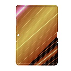 Diagonal Color Fractal Stripes In 3d Glass Frame Samsung Galaxy Tab 2 (10 1 ) P5100 Hardshell Case  by Simbadda