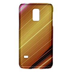 Diagonal Color Fractal Stripes In 3d Glass Frame Galaxy S5 Mini by Simbadda