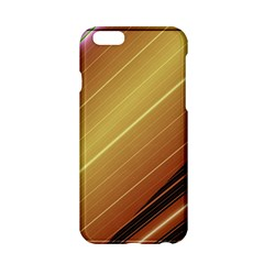 Diagonal Color Fractal Stripes In 3d Glass Frame Apple Iphone 6/6s Hardshell Case by Simbadda