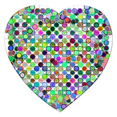 Colorful Dots Balls On White Background Jigsaw Puzzle (heart) by Simbadda