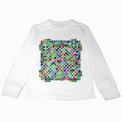 Colorful Dots Balls On White Background Kids Long Sleeve T Shirts