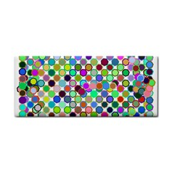 Colorful Dots Balls On White Background Cosmetic Storage Cases by Simbadda