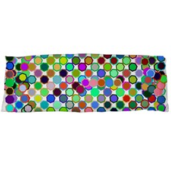 Colorful Dots Balls On White Background Body Pillow Case (dakimakura) by Simbadda