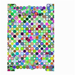 Colorful Dots Balls On White Background Small Garden Flag (two Sides) by Simbadda