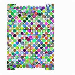 Colorful Dots Balls On White Background Large Garden Flag (two Sides) by Simbadda