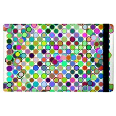 Colorful Dots Balls On White Background Apple Ipad 3/4 Flip Case by Simbadda