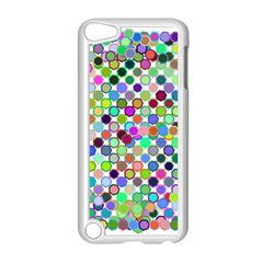 Colorful Dots Balls On White Background Apple Ipod Touch 5 Case (white)