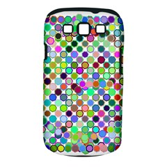 Colorful Dots Balls On White Background Samsung Galaxy S Iii Classic Hardshell Case (pc+silicone) by Simbadda