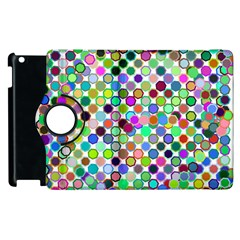 Colorful Dots Balls On White Background Apple Ipad 3/4 Flip 360 Case by Simbadda