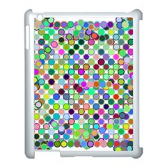 Colorful Dots Balls On White Background Apple Ipad 3/4 Case (white)