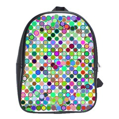 Colorful Dots Balls On White Background School Bags (xl)