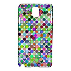 Colorful Dots Balls On White Background Samsung Galaxy Note 3 N9005 Hardshell Case by Simbadda