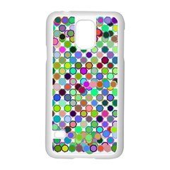 Colorful Dots Balls On White Background Samsung Galaxy S5 Case (white) by Simbadda