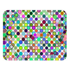 Colorful Dots Balls On White Background Double Sided Flano Blanket (large)