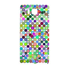 Colorful Dots Balls On White Background Samsung Galaxy Alpha Hardshell Back Case by Simbadda