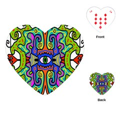 Abstract Shape Doodle Thing Playing Cards (heart)  by Simbadda