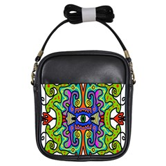 Abstract Shape Doodle Thing Girls Sling Bags