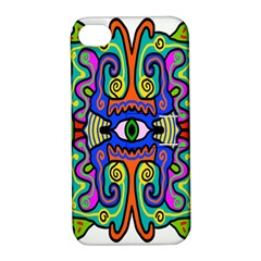 Abstract Shape Doodle Thing Apple Iphone 4/4s Hardshell Case With Stand by Simbadda