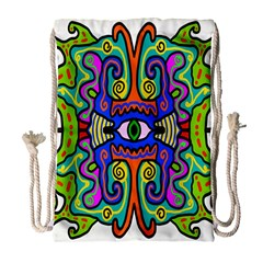Abstract Shape Doodle Thing Drawstring Bag (large)