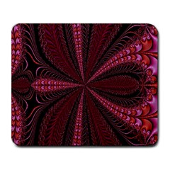 Red Ribbon Effect Newtonian Fractal Large Mousepads
