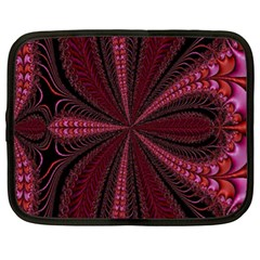 Red Ribbon Effect Newtonian Fractal Netbook Case (xl)  by Simbadda