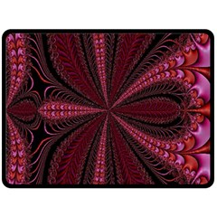 Red Ribbon Effect Newtonian Fractal Double Sided Fleece Blanket (large)