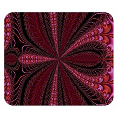 Red Ribbon Effect Newtonian Fractal Double Sided Flano Blanket (small)  by Simbadda
