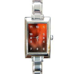 Background Technical Design With Orange Colors And Details Rectangle Italian Charm Watch by Simbadda