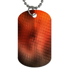 Background Technical Design With Orange Colors And Details Dog Tag (two Sides) by Simbadda