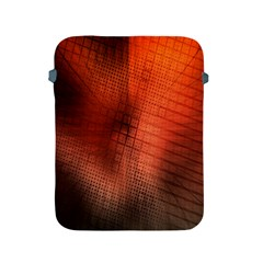 Background Technical Design With Orange Colors And Details Apple Ipad 2/3/4 Protective Soft Cases by Simbadda