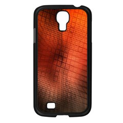 Background Technical Design With Orange Colors And Details Samsung Galaxy S4 I9500/ I9505 Case (black) by Simbadda