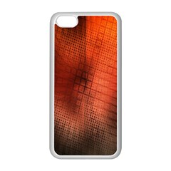 Background Technical Design With Orange Colors And Details Apple Iphone 5c Seamless Case (white) by Simbadda
