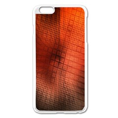 Background Technical Design With Orange Colors And Details Apple Iphone 6 Plus/6s Plus Enamel White Case by Simbadda