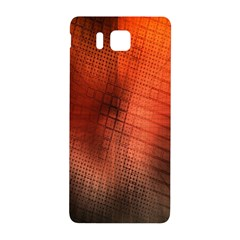 Background Technical Design With Orange Colors And Details Samsung Galaxy Alpha Hardshell Back Case by Simbadda